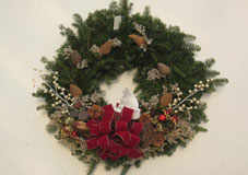 large round wreath