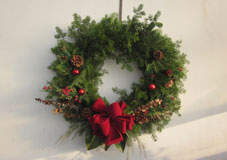 small round wreath
